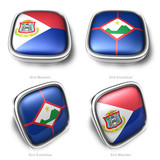 3d Sint Maarten and Sint Eustatius flag button