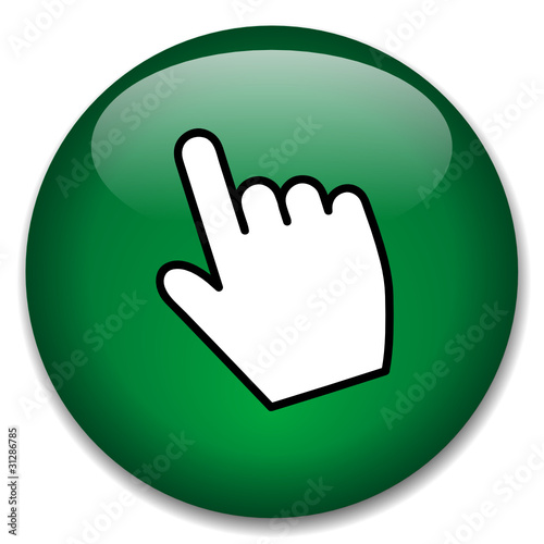 """CLICK HERE"" Web Button (mouse cursor internet connection icon)"