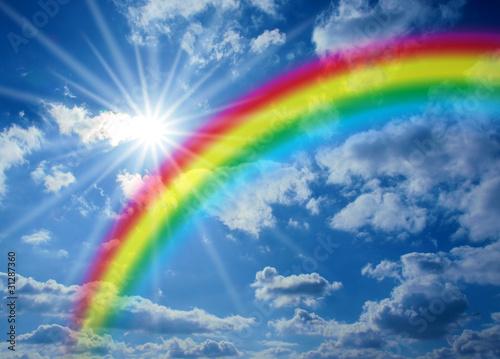 Fototapeten,regenbogen,sonnenschein,himmel,sonne