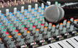 Texture of an audio mixer with microphone