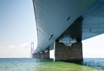 under the great belt bridge