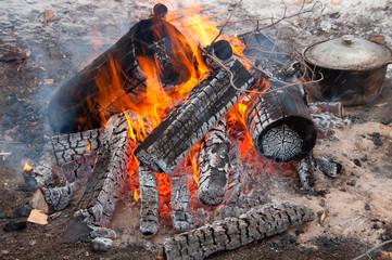 bonfire picnic