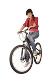 woman bicyclist poster