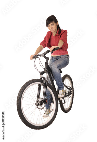 poster of woman bicyclist