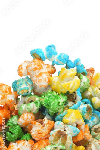 caramel corn of different colors