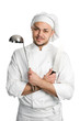 chef with ladle isolated