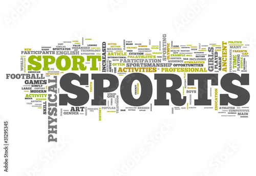 "Word Cloud ""Sports"""