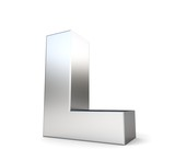 Fototapety 3d metal letter l