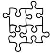 Puzzle Grafik Einzelteile
