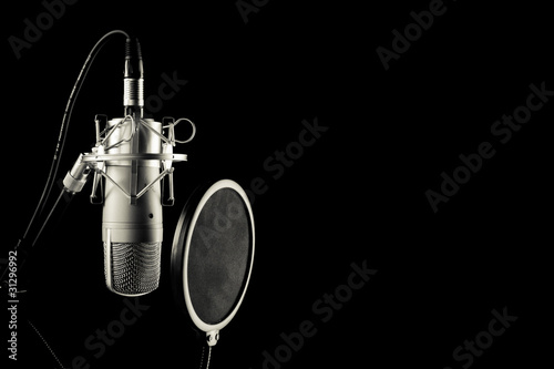 Leinwanddruck Bild mikrofon