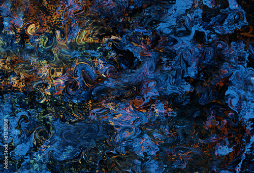 brush strokes on blue abstract background texture