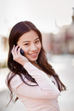 Asian woman on the phone