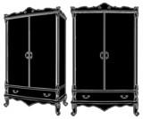 Cupboard Dresser Vector 03 poster