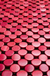 Red abstract background  with circles
