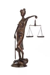 Justitia mit Waage für Recht und Gerechtigkeit