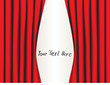 Vector red curtain. Place for your text