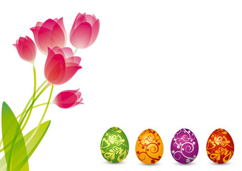 Ostereier mit Tulpen - Ostern