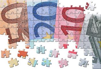 Euro Geldscheine Puzzle - Euro Cash Jigsaw