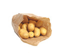 New potatoes in paper bag