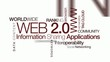 Web 2.0 information network applications animation tag cloud