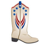 red white blue cowboy boot