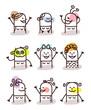 set of female avatars - good moods