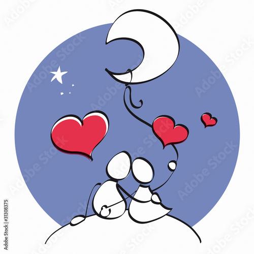 pareja de enamorados. pareja de enamorados © Lagartija de colores #31308375. pareja de enamorados