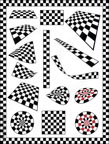 Checker, Race Flag, Chessboard design element - 31309752