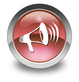 "Red Glossy Pictogram ""Megaphone / Announcement Symbol"""