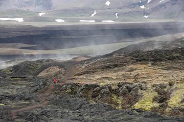 Iceland lava field in Krafla area