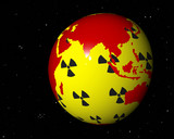 Virtueller Globus zum Thema Atomenergie v asijské