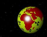 virtueller globus zum thema atomenergie v afrika und europa