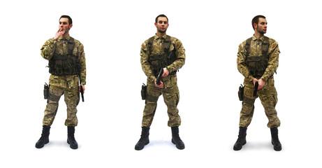 brave us soldier white background