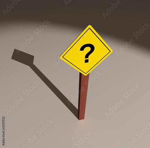 Señal de tráfico con signo de interrogación