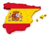 Fototapety 3D Map of Spain