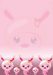 bunny pink wallpaper