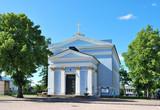 Hamina, Finland.  Lutheran church poster