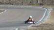 racer on go-kart competition