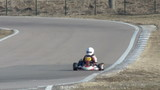 racer on go-kart competition