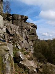 Landscape view of rocks in the peak district, Derbyshire