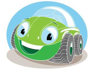 green toy car