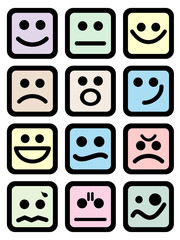 emotions icon set
