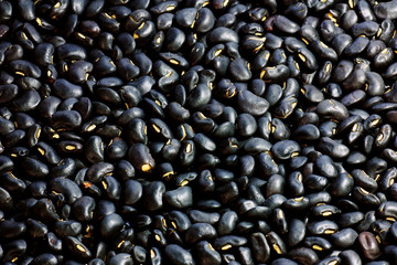 Black beans close up view