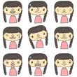 女の子表情