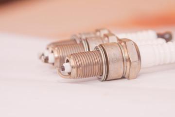 spark plugs closeup shot.