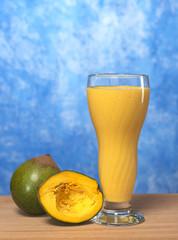 Milkshake out of the Peruvian fruit called Lucuma