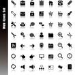Web Black icons set