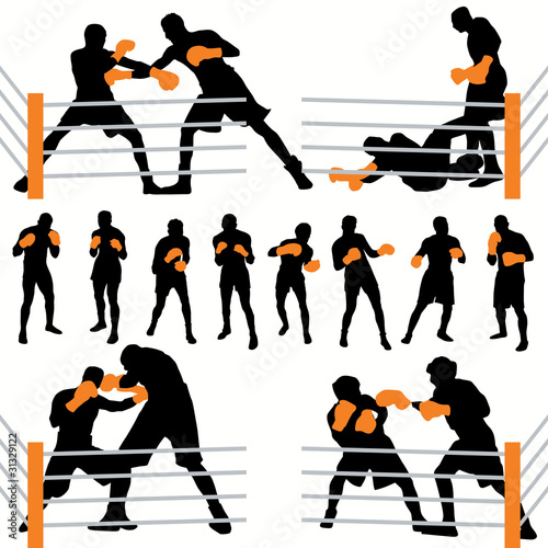 Boxing fighters set