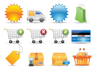 Collection of icons for online store. Vector EPS 8.