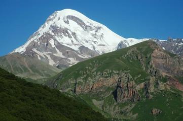 Mount Kazbek, Georgian Military Highway, Caucasus mountains